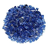 1/4 '' 1/2 '' Reflektierendes Feuerglas-Kies Kobaltblau, reflektierendes Feuerglas für Kamin und Feuerstelle