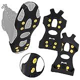 ALPIDEX Anti Rutsch Schuhspikes Ice Grips Schuhkrallen Schnee Spikes Größe 35-47, Größe:L