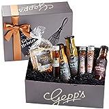 Gepp's Feinkost Grillmeister Geschenkbox | Feinkost-Geschenkkorb gefüllt mit den perfekten Zutaten zum Grillen, hergestellt nach eigener Rezeptur | Gourmet Grillgeschenk-Set für Männer