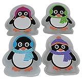ocona Handwärmer Taschenwärmer Handtaschenwärmer Wärmeknickkissen Heizpad wiederverwendbar 4er Set (Pinguin mit Mütze)