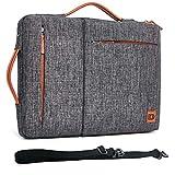 DOMISO 17 Zoll Wasserdicht Laptop Tasche Sleeve Case Notebook Hülle Schutzhülle für 17.3' Dell Inspiron/MSI/Lenovo IdeaPad 300 320 321/HP Envy 17/LG Gram 17'/ASUS ROG Strix GL702VS,Dunkelgrau