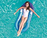 Echden Aufblasbares Wasserhängematte, Luftmatratze Pool Schwimmende Wasser Bett Luftmatratze Wasser Pool Matratzen Strandmatte Floating Lounge Stuhl für Erwachsene und Kinder (Blue)