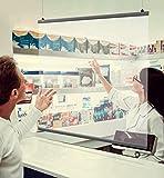 100 x maximal180 cm PET - Deckenhänger Spuckschutz Folie mit Alu-Klemmschiene   Schutz Wand hängend   Spritzschutz   Abtrennwand   Niesschutz  Virenschutz -Spuckschutz Deckenhänger