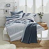 REDBEST Bettwäsche, Bettgarnitur Renforcé anthrazit Größe 135x200 cm (40x80 cm) - mit praktischem Reißverschluss anschmiegsam, strapazierstark, 100% Baumwolle