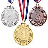 TOYANDONA 3 Stück Metall Gewinner Gold Silber Bronze Award Medaillen für Sport, Wettbewerbe, Buchstabierwettbewerbe, Party