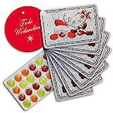 corpus delicti :: 8er Set Mini-Adventskalender mit PULMOLL-Hustenbonbon Weihnachtsmann & Rentier Rote Nasen mit einem Geschenkanhänger (W7WRP8er)
