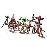 Homyl 1 Set Indianer Meschen Figuren Skulptur Spielzeug Kindergeburtstag