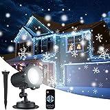 Weihnachten LED Projektorlampe mit Fernbedienung, IP65 Wasserdichte Schneefall-Lichteffekt Außenbeleuchtung für Weihnachten Party, Geburstag, Hochzeit, Halloween, Ostern, und Feiertag (Projektorlampe)