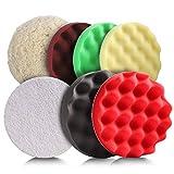 Polierschwämme, Tacklife 7 Stück, Ø 180mm, Polierschwamm Set für Tacklife Auto Poliermaschine, geeignet zum Polieren und Wachsen - SPP1A
