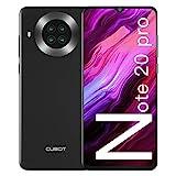 CUBOT Note 20 Pro Smartphone ohne Vertrag 6,5 Zoll HD+ Display, Octa Core 6GB RAM + 128GB ROM, Android 10, 4200mAh Akku, 20MP + 12MP Quad Kamera, 4G Dual SIM, NFC, GPS, Face ID