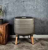 SUPERWURM Design-Komposter, Komposter, Wurmkomposter (Hellanthrazit)