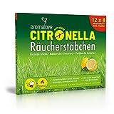 Aromalove Premium Set aus 12 Packungen Citronella Anti Mücken und Anti Wespen Räucherstäbchen für Draußen inklusive gratis Räucherstäbchenhalter