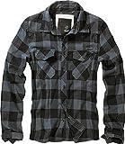Brandit Check Shirt Herren Baumwoll Hemd L Black-grey