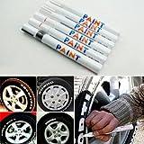 Verlike Paint Marker Pen, 12 Farben Wasserdicht Auto Reifenprofil Rubber Metal Permanent Schwarz