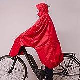 LOWLAND OUTDOOR® Fahrradregenponcho - Helmgeeignet - Atmungsaktiv - Wasserdicht (7000mm Wassersäule)