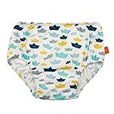 LÄSSIG Baby Schwimmwindel Badewindel wiederverwendbar waschbar Auslaufschutz UV-Schutz/Splash & Fun Baby Swim Diaper, Paper Boat, 6 Monate