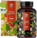 Holi Natural® BIO Hagebuttenkapseln   180 vegane Kapseln   3600mg je Tagesdosis   Reine Hagebuttenpulver Kapseln hochdosiert Hoher Vitamin C Gehalt