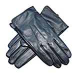 Jasmine Silk Herren Lederhandschuhe aus weichem Ziegennappaleder Cashmere gefüttert Schwarz- Medium