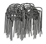 Windhager Pflanzenstecker für die Befestigung von Pflanzentrieben an Kokos-Pflanzstäben, Schwarz, 50 Stück, 06194