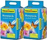 Floragard Blumenerde leicht 2x25 L - Universalerde für Zimmerpflanzen, Balkon- und Kübelpflanzen - mit Langzeitdünger - 50 Liter