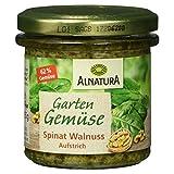 Alnatura Bio Brotaufstrich Gartengemüse Spinat-Walnuss, vegan, 6er Pack (6 x 135 g)