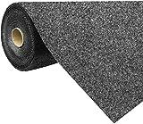 havatex Rasenteppich Kunstrasen mit Noppen 1.550 g/m² - Rot Blau Grau Braun Beige oder Anthrazit   Meterware   wasserdurchlässig   Balkon Terrasse Camping, Farbe:Anthrazit, Größe:200 x 300 cm