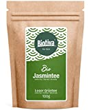 Bio Jasmintee Bio 100g - Top China Qualität - Spitzenpreis - Dunkelgrünes Blatt, stark durchsetzt mit weißen Blattknospen - DE-ÖKO-005