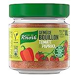 Knorr Gemüse Bouillon Tomate und Paprika (100 % Natürliche + Vegane Zutaten im Glas, 96 g )