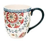 Duo Jumbotasse Becher XXL folkloristische Deko 810 ml aus Keramik Trinkbecher Smoothie Becher Geschenk Büro Tasse für Kaffee Teetasse Cappuccino Kaffeebecher Jumbo-Tasse Riesentasse XXXL (Orient 1)