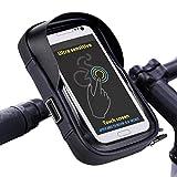 Tomuku Fahrradlenker Handyhalterung Fahrrad Handytasche Wasserdicht Fahrradlenkertasche für Handy GPS Navi 6.3 Zoll … (Schwarz)