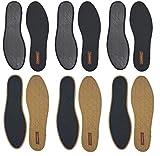 Cinnea 3 Paar Zimt Einlegesohlen, Antirutschvlies gegen Schweiß und Fußgeruch, Damen, Herren, Schwarz, Größe 42
