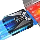 KLIM Cool Universaler Kühler für Spielekonsole Laptop PC – Hochleistungslüfter für Schnelle Kühlung - USB Warmluft-Abzug Blau[ Neue 2020 Version ]