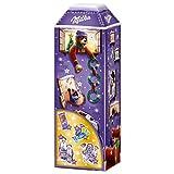 Milka 3D Haus Adventskalender 1 x 229g, Weihnachtskalender mit vielen Milka Leckereien