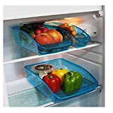 Provance 3er Set Kühlschrank Organizer Lagerung Box Gefrierschrank Speisekammer Lebensmittel Aufbewahrungsbehälter für Gemüse Obst Milch, Durchsichtig Vorratsdosen