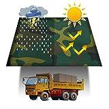LILIS Schutzhülle Abdeckung für Gartenmöbel Tarnplane High-Density-Woven reißfest Tarps Außensonnenschutz und Regenschutz, 400G / M2 (Color : Camouflage, Size : 3x5m)