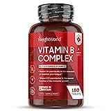 EINFÜHRUNGSPREIS 2020 Vitamin B Komplex - 180 vegane Tabletten mit B12 - Besonders hochdosiert (10x) und laborgeprüft - Gut veträglich & bioverfügbar - B Vitamine Aktiv - Premium Qualität