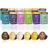 Gourmesso Flavour Box – 120 Nespresso kompatible Kaffeekapseln – 100% Fairtrade – 6 ausgefallene Geschmacksrichtungen