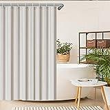 SeaFellows ® Duschvorhang (wasserabweisend) - Anti-Schimmel-Effekt - antibakterieller Badewannen Vorhang in grau - mit jeweils [12x] Befestigungsringen - 200x180cm - 3 Magnete als Fallgewicht