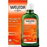 WELEDA Arnika Massage-Öl, pflegendes Naturkosmetik Körper Öl gegen Verspannungen und Verkrampfungen der Muskeln, ideal für vor und nach dem Sport (1 x 200 ml)