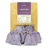 LOVENDEL 5 x Lavendelsäckchen mit Lavendel-Blüten - 50g Natürlicher Mottenschutz in Duftsäckchen für den Kleiderschrank