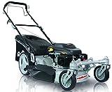 Grizzly Benzin Rasenmäher BRM56 Q 360, Selbstantrieb, 2 bewegliche Vorderräder, besser als Trike, 56 cm Schnittbreite, Inkl. Abdeckhaube