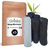 Orinko BINCHOTAN Japanese Hyuga X6 (150 g, 25 g x 6) | Authentische Aktivkohle, traditionell aus Japan (Miyazaki Pref.) für Wasserreinigung in Karaffe...