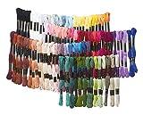VBS Stickgarn 100 Döckchen 8m langes Sticktwist 6fädig je 8 m 100% Baumwolle häkeln nähen knüpfen in vielen Farben