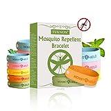 TUKNON Anti Mücken Armband, Mückenarmband, Mückenschutz Armband, Einstellbar Moskito Armband für Erwachsene und Kinder, Naturals Schutz gegen Mücken Outdoor Indoor Mosquito, 15 Stück
