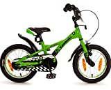 Kawasaki Fahrrad 14 Zoll Jungen Rücktritt Kinderfahrrad Jungenfahrrad Grün