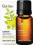 Ätherisches Zitronenöl für Haut, Diffusor, Aromatherapie und Seifenherstellung (10 ml) - 100% reine therapeutische Qualität - Gya Labs