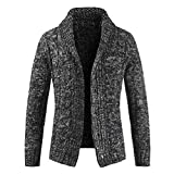 Herren Strickjacke Cardigan Feinstrick Herren Cardigan Grobstrick mit V-Ausschnitt Herren Strickjacke Cardigan Warmer und Slim-fit Strickpullover Stricken Herbst Winter Festival warme Mode einfarbig