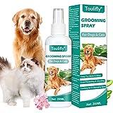 Toulifly Entwirrungsspray, Pflegespray für Hunde & Katzen, Kämmhilfe Zerstäuber, Fellspray, Fellpflege Spray für glänzendes Fell, Entfilzungsspray, Entfilzung, Kämmhilfe & Entwirrungsspray
