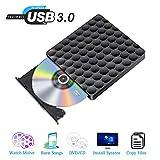 External CD DVD Laufwerk USB 3.0 Portable DVD CD Slim Burner Plug and Play Low Noise, for Laptops,Desktops, Windows 7/8/10 / SE and Linux OS