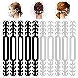 Maskenhaken aus Silikon, 10 Stück Maskenhaken Anti-rutsch Silikon Masken Ohrband Gummiband Verlängerungsriemen für Ohrschutz 6 Gang Einstellbare Haken Ohrenriemen für Erwachsene und Kinder